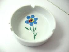 Flower and Ladybug Ceramic Ashtray 3 ports white blue red