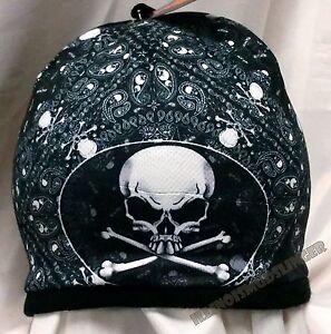 Beanie Paisley Skulls & Crossbones Sublimated Design Knit Hat Cap #1025 NWT