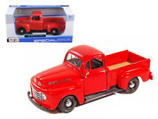 1948 Ford F-1 Pickup Truck Red 1/25 Scale Diecast Model By Maisto 31935