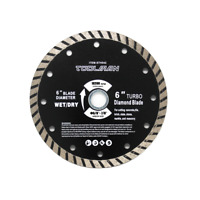 "Toolman Circular Saw Blade Diamond Blade Universal Fit 6"" For Dry Masonry"