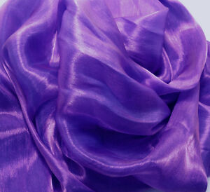K123 PER YARD Lilac Pink Mirror Organza Sheer Fabric Dress/Decorative Material