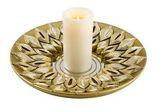 Peacock Plume Candle Holder Candles Not Included Can Be As Wall Deco Gold New