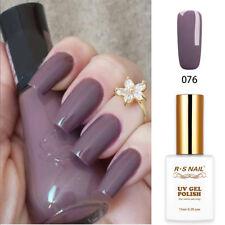 RS Nail UV LED Gel Nail Polish Varnish Soak Off UV Gel Colour Purple Grey 15ml
