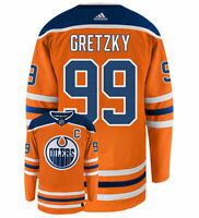 Wayne Gretzky Edmonton Oilers Adidas Authentic Home NHL Vintage Hockey Jersey