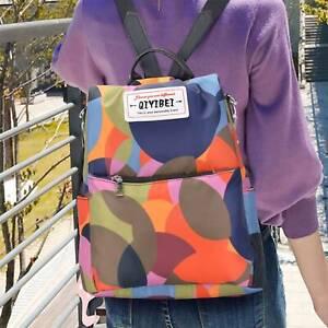 Colourful Waterproof Cloth Backpack Travel Rucksack Anti-theft Shoulder Women UK