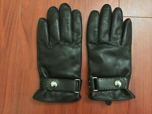 POLO RALPH LAUREN Black Butter-Soft Leather Gloves 3M Thinsulate M