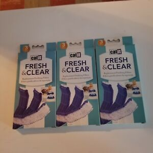 Hagen Catit Fresh & Clear Replacement Filters Lot of 9, 3 Packs, New Sealed