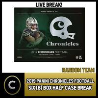 2019 PANINI CHRONICLES FOOTBALL 6 BOX (HALF CASE) BREAK #F430 - RANDOM TEAMS