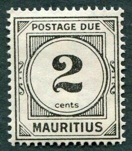 MAURITIUS 1933-54 2c black SGD1 mint MH FG POSTAGE DUE #W27