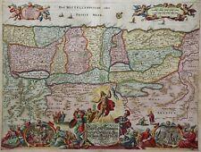 Israel, Palästina - Das Land Kanaan wie es Christus ...- Sandrart 1680 -Original