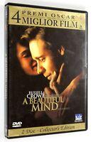 DVD A BEAUTIFUL MIND 2001 Drammatico Ron Howard Russel Crowe Jennifer Connelly