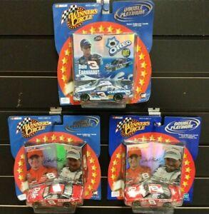 Lot (3) Dale Earnhardt SR/JR Chevy 1/43 Winners Circle Double Platinum ALL NIB