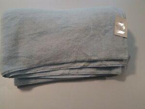 Matouk MILAGRO BATH SHEET TOWEL POWDER BLUE COTTON NEW WITH LIGHT MARK