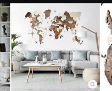Wood Map Art