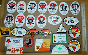 26 Vintage CONSOL Coal Mining Stickers & Others - Unused Great Shape #5