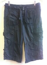 New Look Black Cropped Trousers Size 8 <B2598