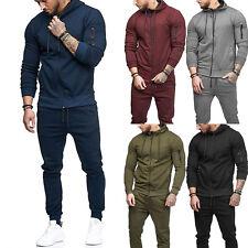 Men's Hoodie Sweatsuit Tracksuit Set Slim Fit Top Pants Joggers Gym Casual Suit