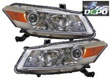 2008-2010 Honda Accord 2D Coupe OE Style Chrome Head Light DEPO PAIR