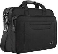 "Matein Men's Black 15.6"" Business Travel Briefcase Laptop Sleeve Case Office Bag"