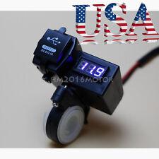 USB Charger LED Voltmeter Fits Yamaha Virago XV 250 535 700 750 920 1100 V-Max