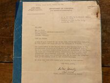 1942 Authorization Letter and Blue Print to Install Ercoupe Wing Landing Light