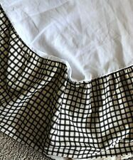 Waverly QUEEN Bed Skirt Dust Ruffle Black Ivory Plaid matches Toile Comforter
