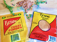 Curry Powder, Jamaican Betapac Curry Powder 110g + Chicken Spice 113g-US ship