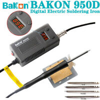 75W BAKON 950D Solder Iron  Portable Electronic SMD Soldering Station + T13 Tips