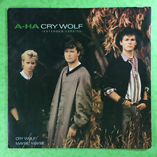 A-HA - Cry Wolf (Extended Version) Warner Brothers W8500T VG+ Condition