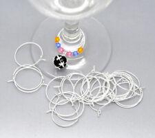 200pcs Wine Glass Charm Rings /Earring Hoops Wedding Hen Party 20mm