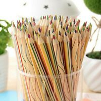 Art Supply New Drawing  Rainbow Color Pencils 4 In 1 Colored Painting