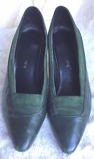 Worthington Heels size 7.5M Green Suede and Leather  Pumps