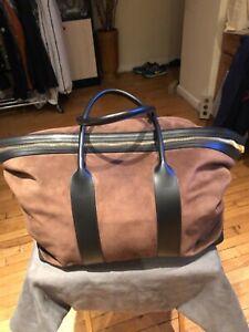 Tom Ford men's leather/suede Weekender bag