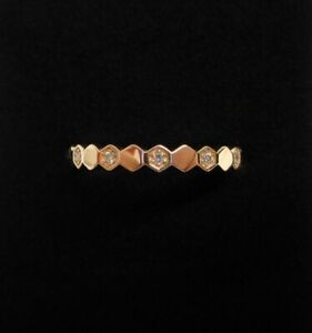 Fine 0.12ct Diamond Stack/Eternity Ring 750 (18ct) Rose Gold - Size M (US 6.25)