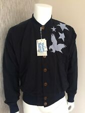 """VIVIENNE WESTWOOD NAVY EAGLE & STARS JACKET SIZE 38""""/ ITALIAN 48  MADE IN ITALY"""