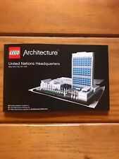 New Lego Instruction Manual ONLY Architecture United Nations Headquarters 21018