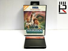 WIMBLEDON TENNIS Sega Master System PAL Cartridge & box. genuine & tested! GREAT