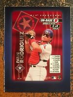Ivan Rodriguez Rangers 2000 MLB Showdown RARE HAND CUT PROMO POSTER CARD