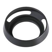 Metal 55mm Lens Hood Curved Vented for Leica M Fujifilm Sony Alpha Camera Black