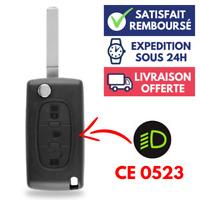 Coque Clé Voiture Boitier de Télécommande pour Plip CITROEN C3 C4 C5 C6 ➜CE0523