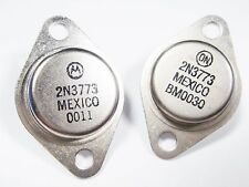 2 x 2N3773 POWER Transistor Si NPN 160V 16A 150W ONElectronic (TO3) #14T33#