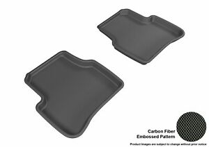 For 2006-2010 Volkswagen Passat R2 Carbon Pattern Black All Weather Floor Mat