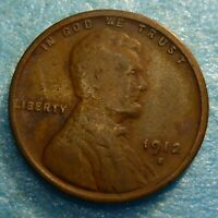 1912s Lincoln Cent  Coin  #12s better grade