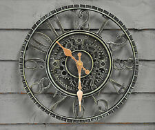 Newby Verdigris Wall Clock Outdoor or Indoor (30cm) by Outside In Designs
