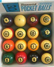 Brunswick Centennial Pool Billiard Ball Set