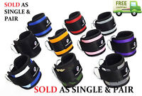 Weight Lifting D Ring Ankle Straps Cable Attachment Strap Fitness Exercise