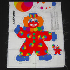 Here Come The Clowns Soft Cloth Book Cut /& Sew Fabric Panel Vintage 1990s Infant