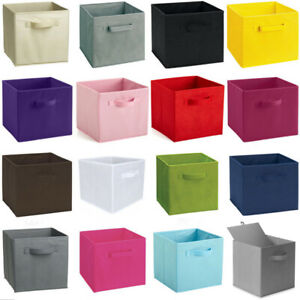 4X Foldable Storage Boxes Collapsible Drawer Home Clothes Organizer Fabric Cube
