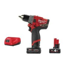 TRAPANO AVVITATORE MILWAUKEE M12 FPD-402X CON 2 BATTERIE 12V DA 4 AH COPPIA 44NM