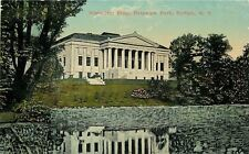 Buffalo New York~Delaware Park Historical Building~Reflection in Water~1910 PC